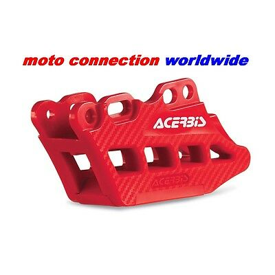 New Acerbis Red Rear Chain Guide Block With Carbon Effect For Honda Crf250 2017