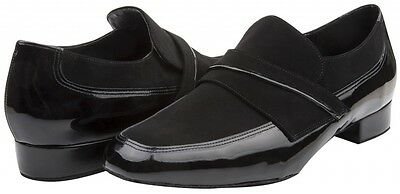 Black patent/nubuck Freed Swayze ballroom/latin dance shoes - size UK 9.5