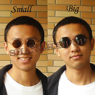 Round Frame Dark Lens Sunglasses Shades Sunnies Vintage Retro Penny Men Women