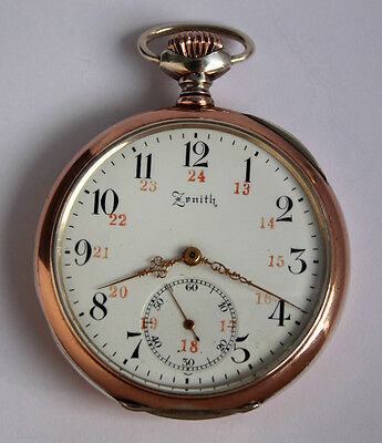 ZENITH GRAND PRIX PARIS 1915 800 Silber Antike swiss TASCHENUHR OF POCKET WATCH