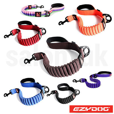 "EzyDog Zero Shock Absorbing Dog Lead Strong Nylon Leash 25""/48"" Ezy Dog Leads"