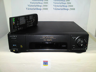 SONY SLV-E250 VHS VCR Video Recorder - Auto head cleaner - Child door lock -AUX
