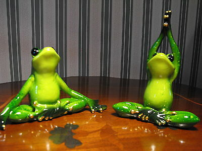 Yoga Gift Present  Yoga Frogs Ornament Figure Figurine Frog Collecters Gift