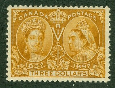 SG 138 Canada $3 bistre. A fine fresh lightly mounted mint example with good...