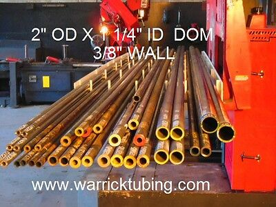 "Dom  Mild Steel Tubing  2.00"" Od  X   1.25""  Id  ( .375 Wall )  36"" Long"
