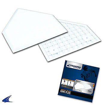 White Molded Rubber Baseball Home Plate- Official Size, Retail Box