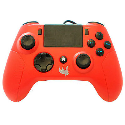 Playstation 4 * Red Gator Claw Wired Ps4 Controller Game Pad * New