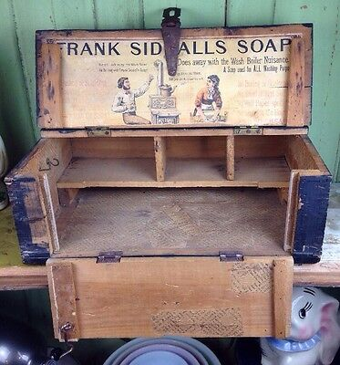 Antique Frank Siddall's Soap Box general store advertising crate store display