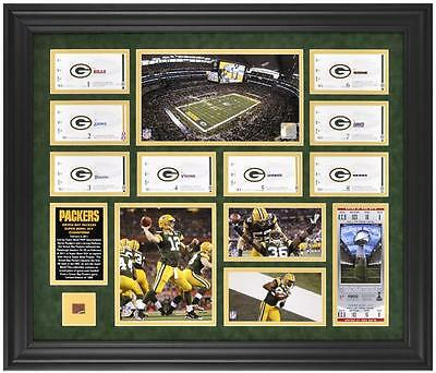 Green Bay Packers Super Bowl XLV Champions Season Ticket Collage
