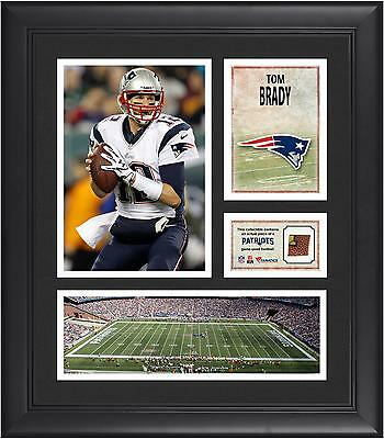 "Tom Brady New England Patriots Framed 15"" x 17"" Collage with Game-Used Football"