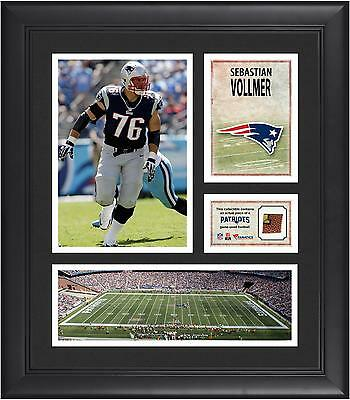 Sebastian Vollmer NE Patriots Framed 15x17 Collage w/ Game Used Football