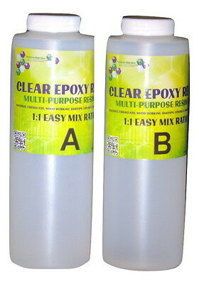crystal clear Table top epoxy resin coating casting - 64 ounces