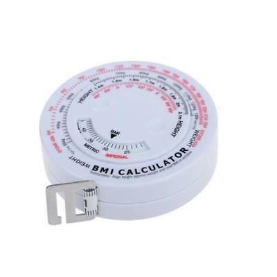 BMI Body Mass Index Retractable Tape Measure Tests Calculator Body Diet Round