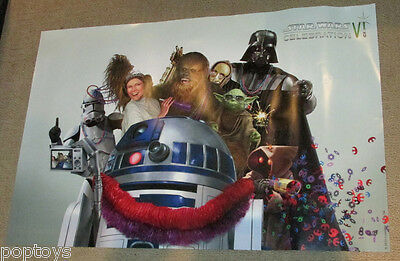 POSTER Star Wars Celebration VI MARDI GRAS Darth Vader Yoda R2-D2 Chewbacca Jawa