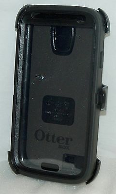 Genuine OtterBox Defender Series BLACK Case Samsung Galaxy S4 Smart Phone USED