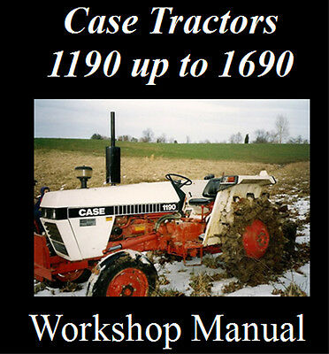CASE INTERNATIONAL TRACTOR 1190 up to 1690 WORKSHOP SERVICE REPAIR MANUAL ON CD