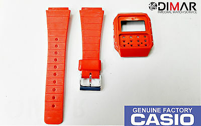 Vintage Casio Case And Band J-100 Red Nos