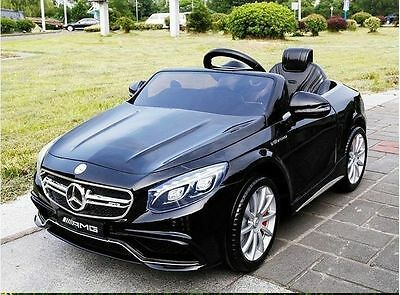 Mercedes S63 AMG Ride on 12v Electric Kids Car With Remote Control - Black