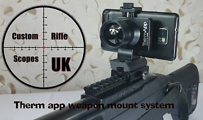 Therm app weapon mount system, therm app adaptor + picatinny / weaver rail clamp