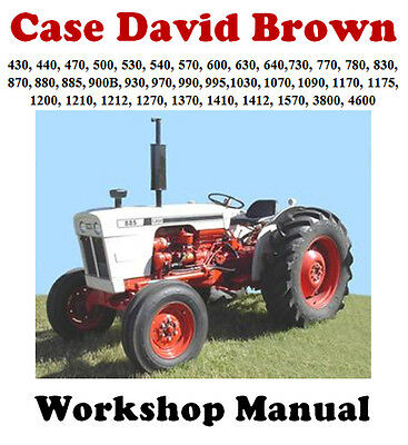 David Brown / Case Tractors 430-4600 Workshop Service Repair Manual On Cd