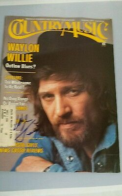 Country Music Magazine February 1977 Waylon Jennings Autographed