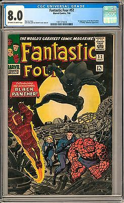 Fantastic Four #52 CGC 8.0 (OW-W) 1st Appearance of Black Panther