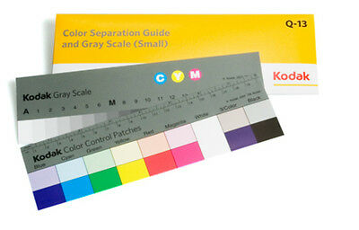 Kodak Color Separation Guide with Grey Scale Small Size #Q-13 / 8 inch