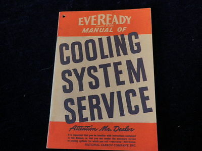 Vintage 1942 Everyday Manual of Cooling System Service  Very Nice Condition  A9