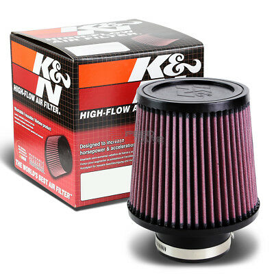 """K/&N Air Filter Conical Cotton Gauze Red Chrome Steel End Cap 5.5/"""" Height Ea"""