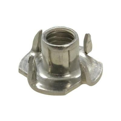 Qty 30 Tee Nut M6 (6mm) Stainless Steel 304 4 Prong T Nut Blind Timber Wood