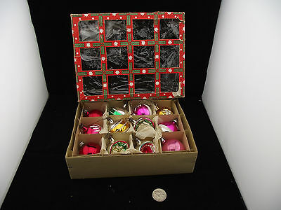 48 Eastern Germany Christmas Balls Ornaments  Collection Painted Fancy Indented