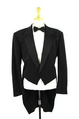 vintage mens black LORD WEST SUNDANCE tuxedo tux tailcoat western formal S 38 R