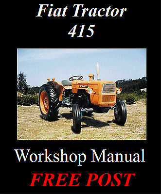 Fiat Tractor 415 Series Workshop Service Repair Manual On Cd - The Best !!