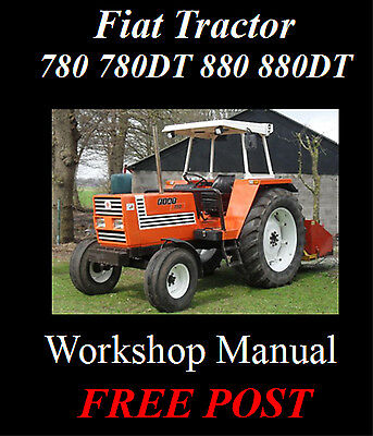 Fiat Tractor 780 780Dt 880 880Dt Workshop Manual On Cd - The Best !!