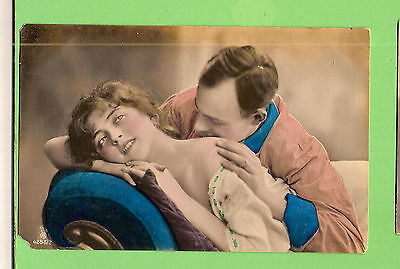 #a.   Lady & Man  Postcard -  Two Lovers