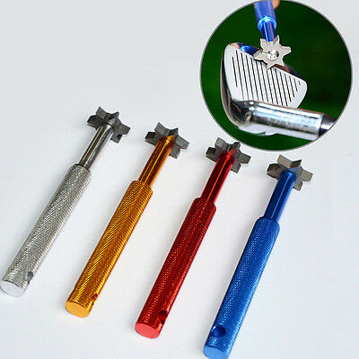 Golf Groove Sharpeners Pocket Iron Wedge Club Cleaning 6 Blades Regrooving Tools