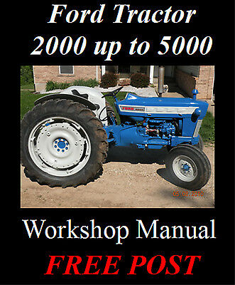 Ford Tractor 2000 3000 4000 5000 Workshop & Parts Repair Manual Cd