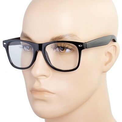 Fashion Retro Unisex men Women Clear Lens way-farer Nerd Geek Glasses Eyewear