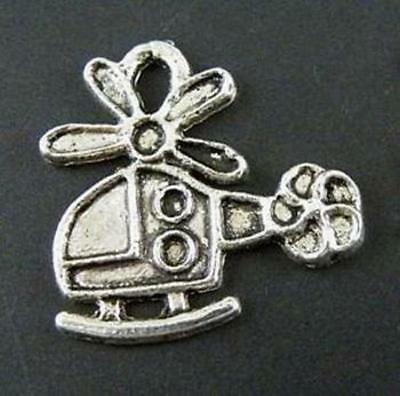 60pcs Tibetan Silver Helicopter Charms 18x18mm 8927