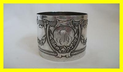 Very Good 19Th C French Silver Large Napkin Ring,minerva 1,.950 Silver