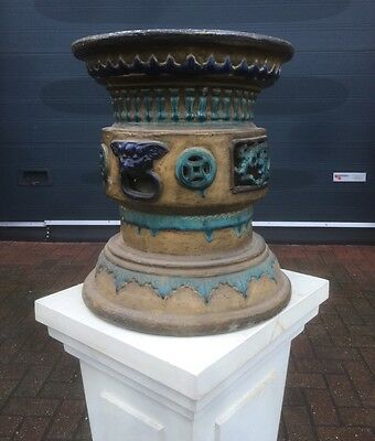 A Large & Impressive Circa 1800 Chineese Jardiniere Holder Open To Offers.