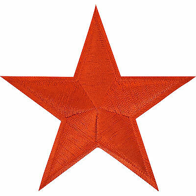 Orange Star Iron On Applique Sew On Badge Clothing Bag Crafts Embroidered Patch