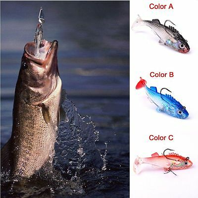 Bass Trout Fishing Baits Soft Lures Crank Swim Bait Silicone