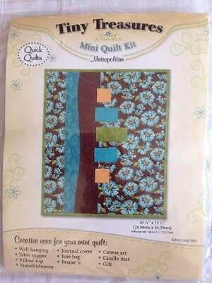 Tiny Treasures Mini Quilt Kit Metropolitan Patchwork Quilting New