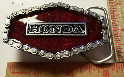 Vintage Honda belt buckle Japanese motorcycle biker collectible clothing accsy