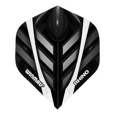 BLACKOUT RHINO TOUGH STANDARD DART FLIGHTS - WINMAU - 1/5/10 Sets Black Out
