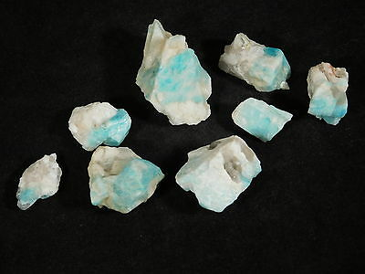 A BIG! Lot of Small 100% Natural BLUE Amazonite Crystals From Colorado! 57.1gr