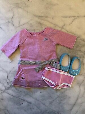 "American Girl Truly Me Meet LILAC DRESS for 18"" Dolls Outfit Purple +Panties NEW"