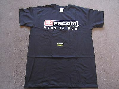 Facom Tools Promotional T-Shirt in Black with Facom Logo Ideal Workwear