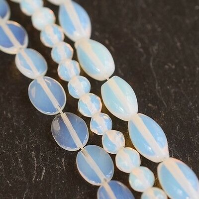 Opalite Round, Facet & Olive Beads